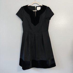 New Sail to Sable Black Velvet Fit Flare Dress - 6